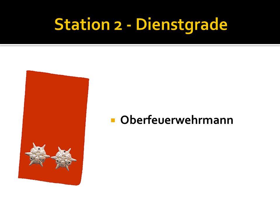 Feuerwehrmann Nenne die Funktionen der Kommandomitglieder: