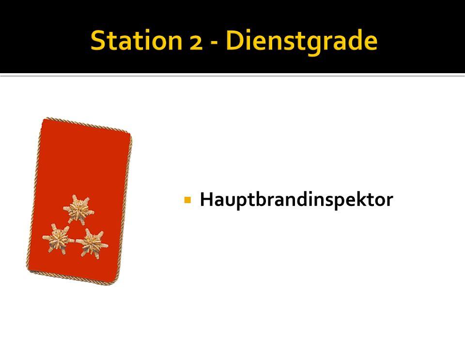 Oberbrandinspektor Nenne die Funktionen der Kommandomitglieder: