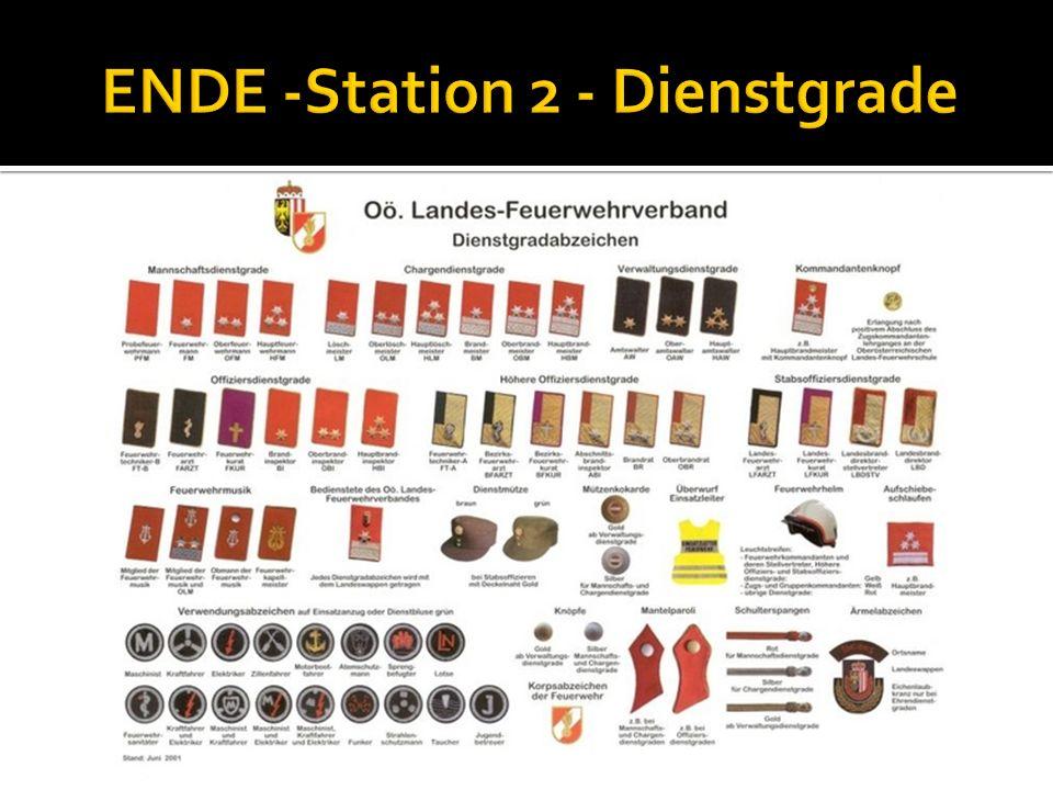 Hauptbrandinspektor Nenne die Funktionen der Kommandomitglieder: