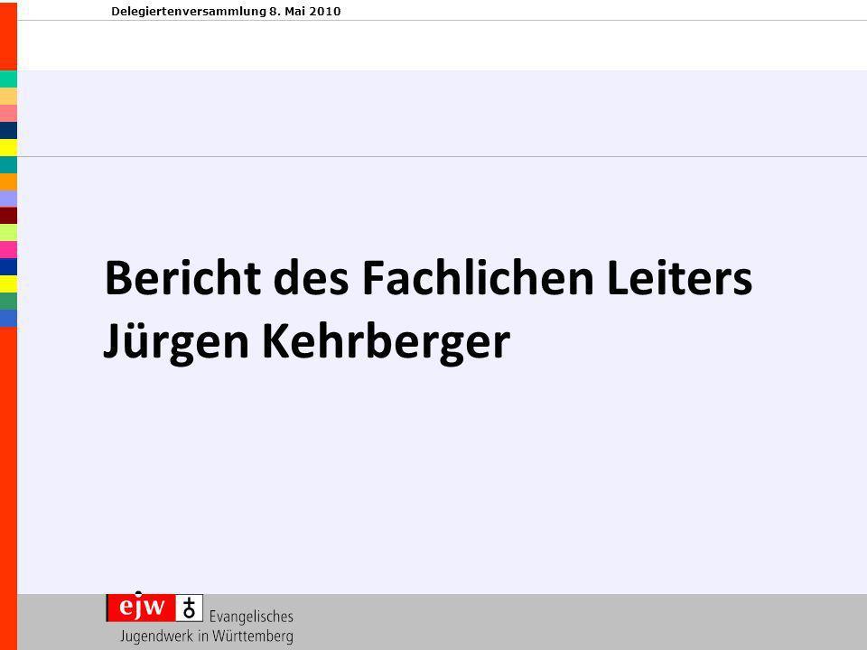 Delegiertenversammlung 8. Mai 2010 Bericht des Fachlichen Leiters Jürgen Kehrberger