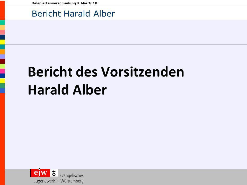Delegiertenversammlung 8. Mai 2010 Bericht des Vorsitzenden Harald Alber Bericht Harald Alber
