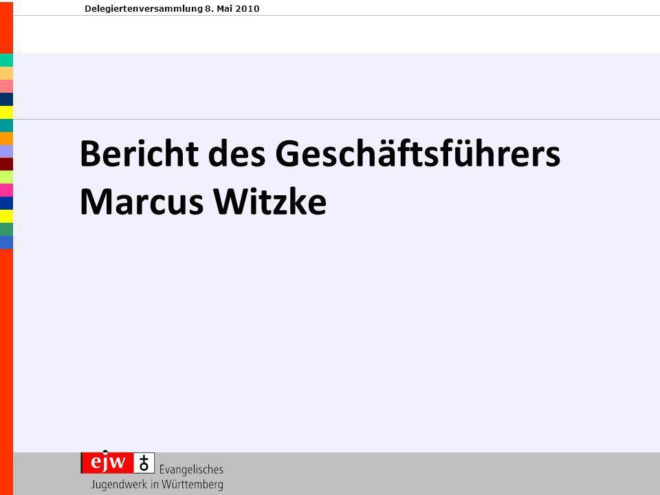 Delegiertenversammlung 8. Mai 2010 Bericht des Geschäftsführers Marcus Witzke