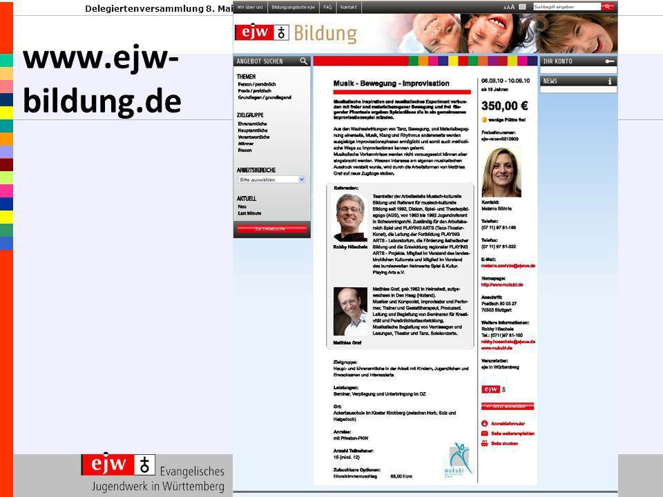Delegiertenversammlung 8. Mai 2010 www.ejw- bildung.de