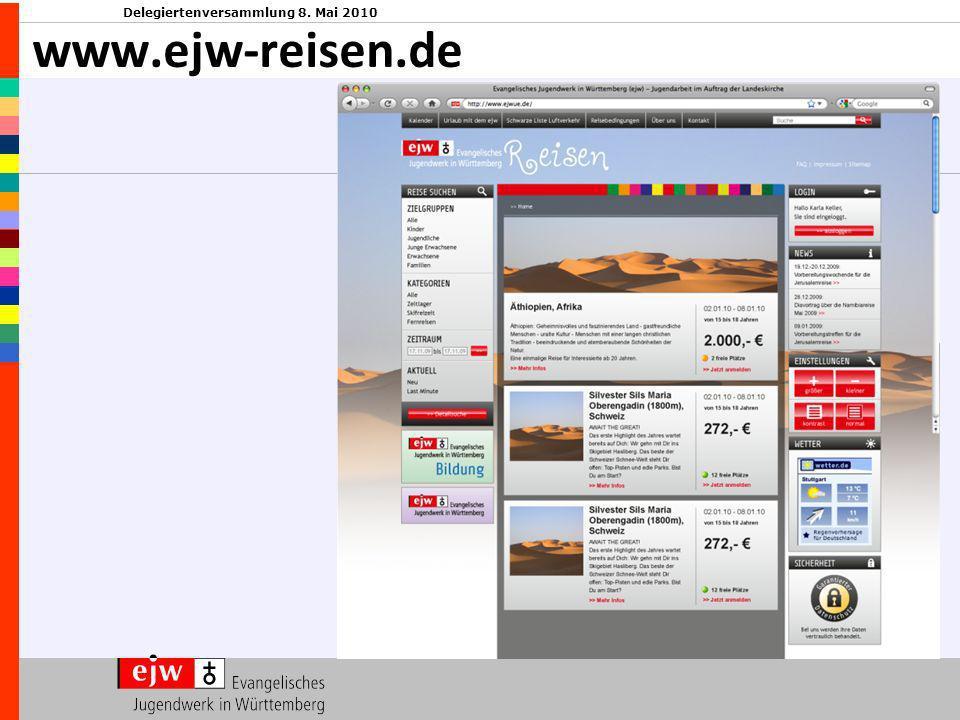 Delegiertenversammlung 8. Mai 2010 www.ejw-reisen.de
