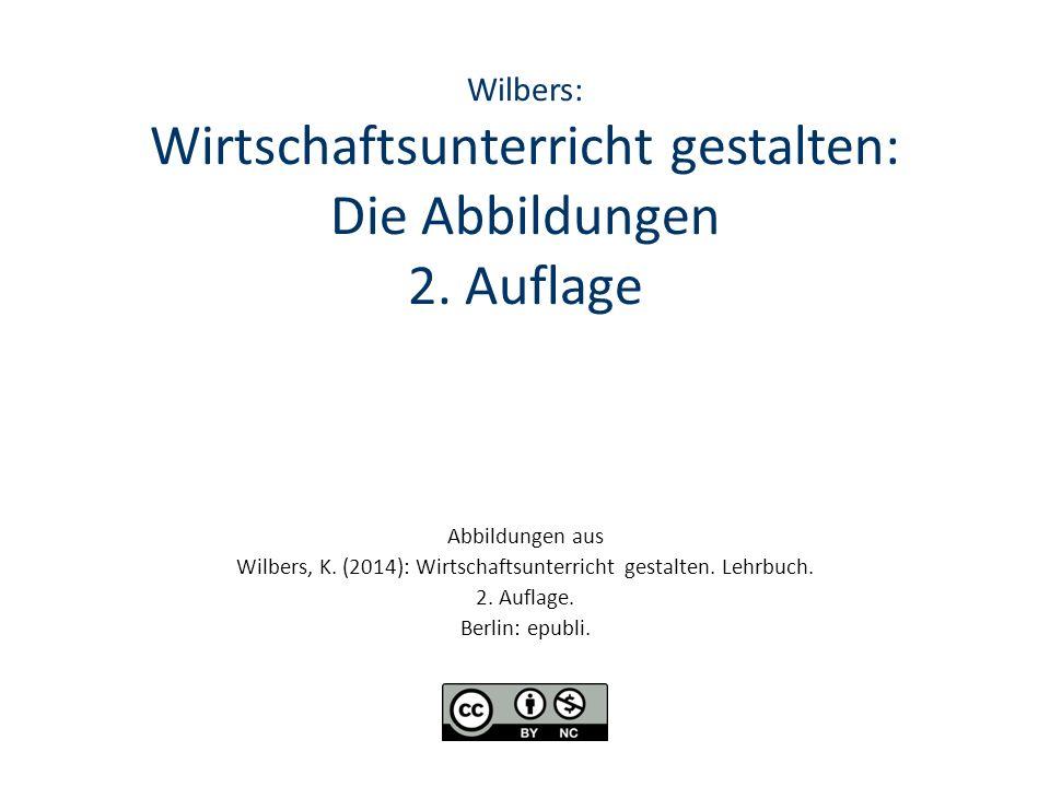 Wilbers: Wirtschaftsunterricht gestalten: Die Abbildungen 2.
