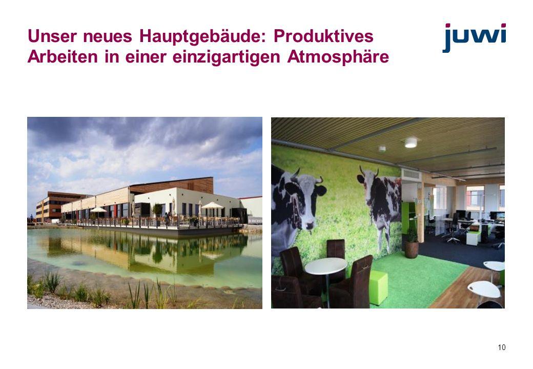 10 Unser neues Hauptgebäude: Produktives Arbeiten in einer einzigartigen Atmosphäre