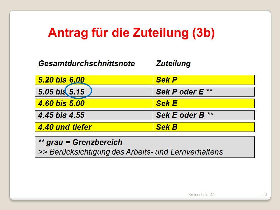 Kreisschule Gäu13 Antrag für die Zuteilung (3b)
