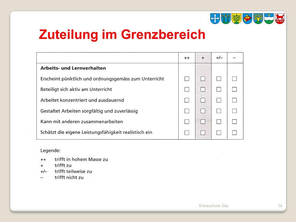 Kreisschule Gäu14 Zuteilung im Grenzbereich