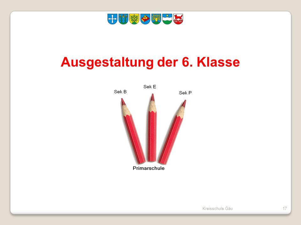 Kreisschule Gäu17 Ausgestaltung der 6. Klasse