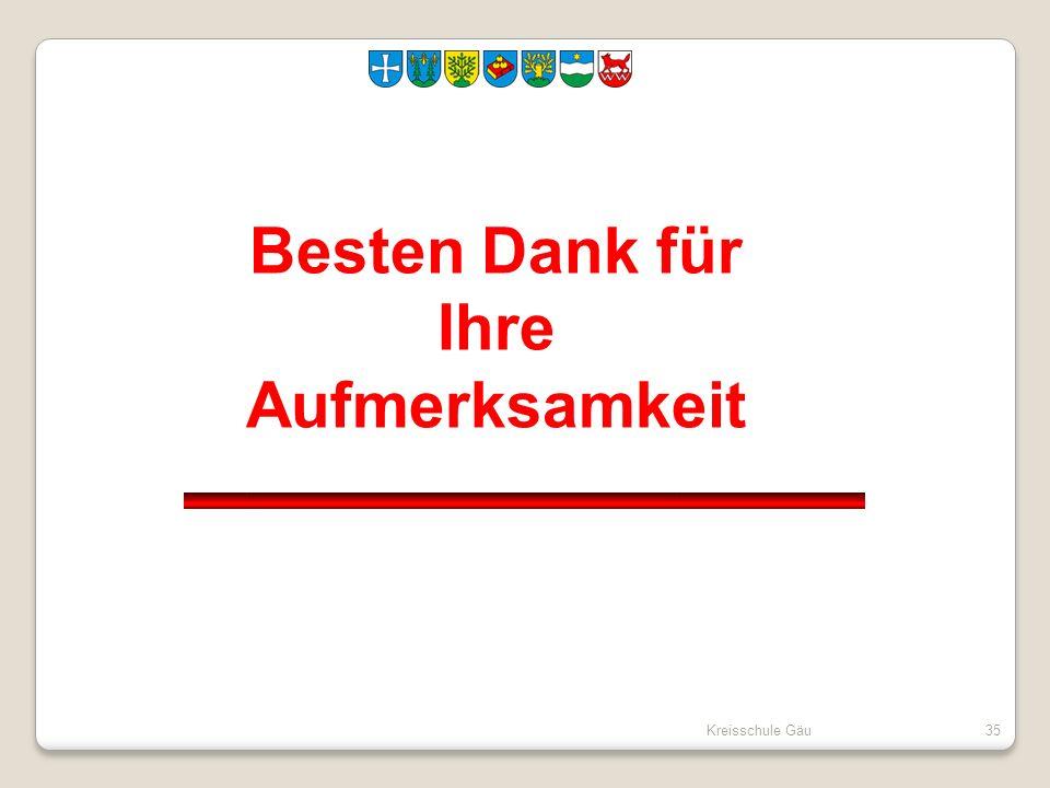 Kreisschule Gäu35 Besten Dank für Ihre Aufmerksamkeit