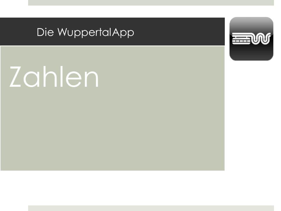 Die WuppertalApp Zahlen