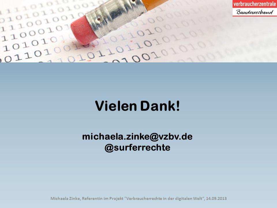 Michaela Zinke, Referentin im Projekt