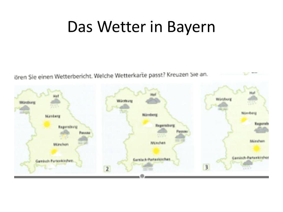 Das Wetter in Bayern