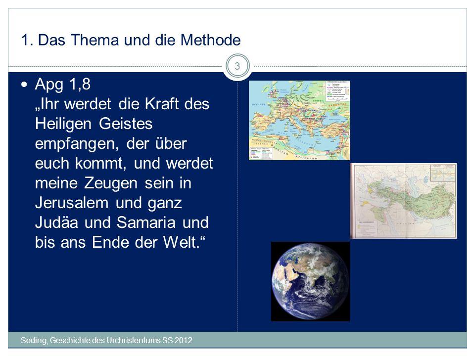 10.Rom Söding, Geschichte des Urchristentums SS 2012 64 Apg 20,22ff.