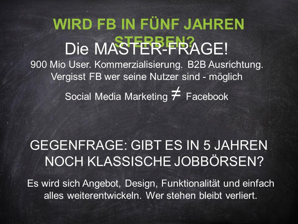 WIRD FB IN FÜNF JAHREN STERBEN. Die MASTER-FRAGE.