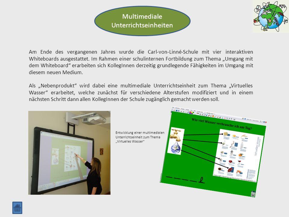 Multimediale Unterrichtseinheiten Am Ende des vergangenen Jahres wurde die Carl-von-Linné-Schule mit vier interaktiven Whiteboards ausgestattet. Im Ra