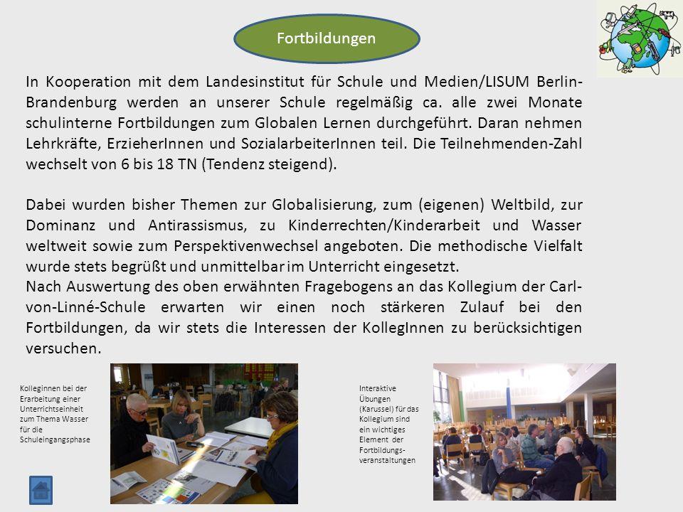 Fortbildungen In Kooperation mit dem Landesinstitut für Schule und Medien/LISUM Berlin- Brandenburg werden an unserer Schule regelmäßig ca. alle zwei