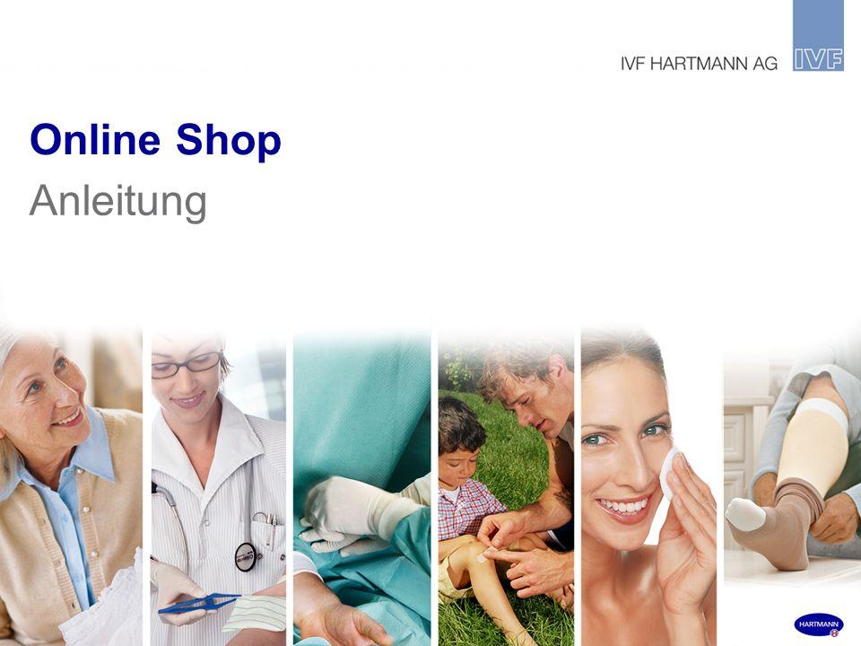 Online Shop Anleitung