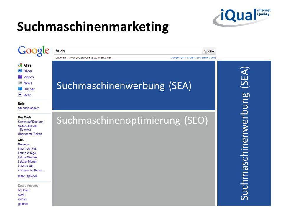 Suchmaschinenmarketing 14 Suchmaschinenoptimierung (SEO) Suchmaschinenwerbung (SEA)