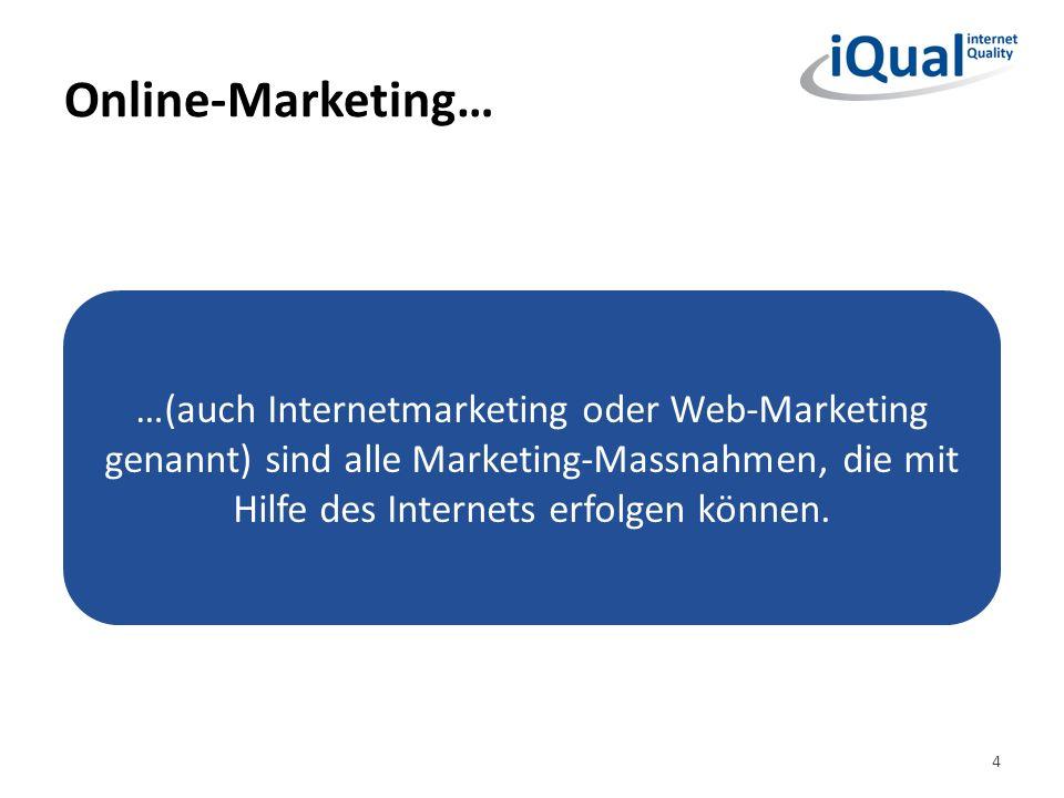 Online-Marketing… 5 …ersetzt keine fehlenden Marketing- und Kommunikationsziele und auch keinen fehlenden Marketing- und Kommunikationsplan.