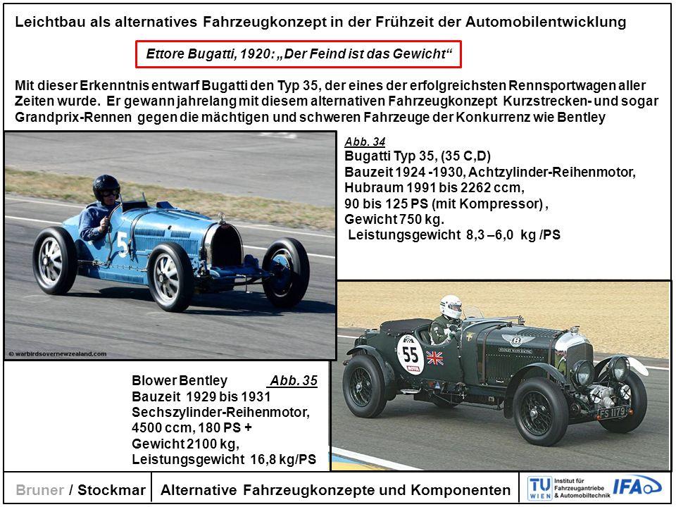 Alternative Fahrzeugkonzepte und Komponenten Bruner / Stockmar Leichtbau als alternatives Fahrzeugkonzept in der Frühzeit der Automobilentwicklung Ett
