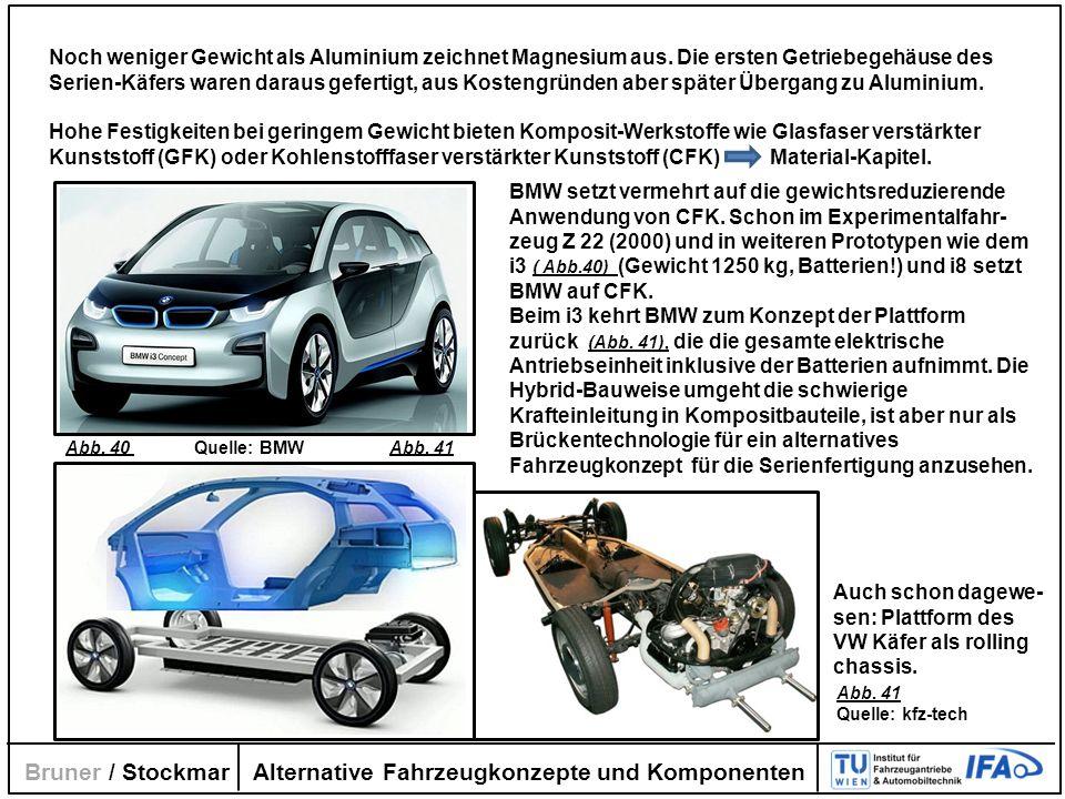 Alternative Fahrzeugkonzepte und Komponenten Bruner / Stockmar Noch weniger Gewicht als Aluminium zeichnet Magnesium aus. Die ersten Getriebegehäuse d