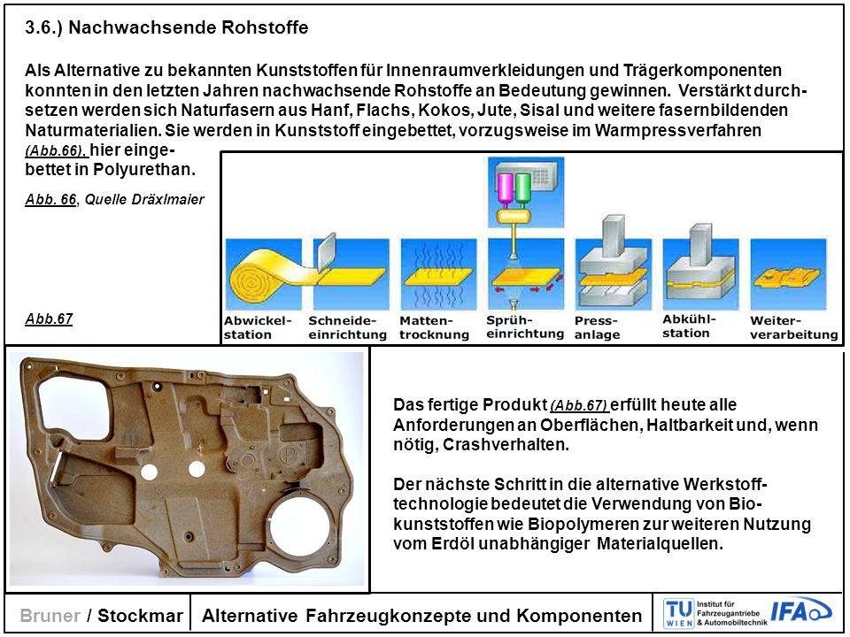 Alternative Fahrzeugkonzepte und Komponenten Bruner / Stockmar 3.6.) Nachwachsende Rohstoffe Als Alternative zu bekannten Kunststoffen für Innenraumve