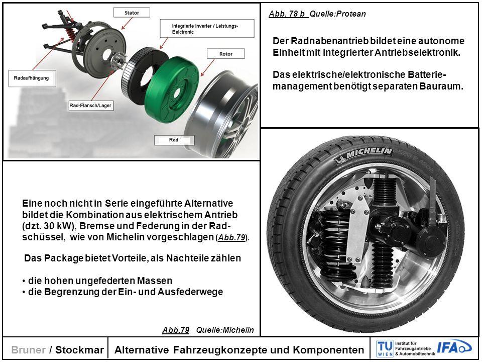 Alternative Fahrzeugkonzepte und Komponenten Bruner / Stockmar Eine noch nicht in Serie eingeführte Alternative bildet die Kombination aus elektrische