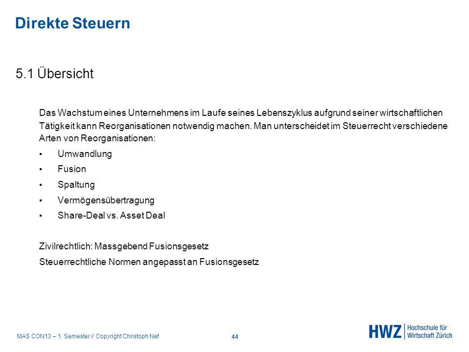 MAS CON13 – 1. Semester // Copyright Christoph Nef 5.1 Übersicht Das Wachstum eines Unternehmens im Laufe seines Lebenszyklus aufgrund seiner wirtscha