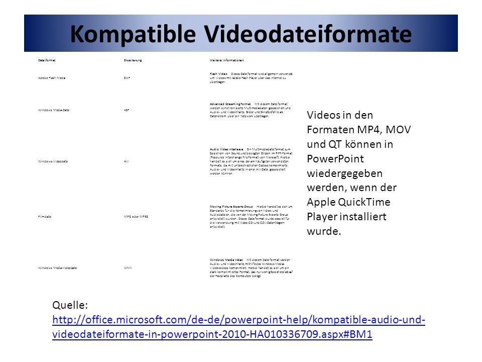 Bei gedrückter linker Maustaste kann man das Video in die gewünschte Größe auf die Folie ziehen.
