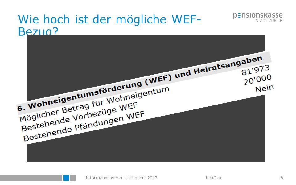 Informationsveranstaltungen 2013 Juni/Juli 29 Vorhaben WEB-Portal Mutationsmeldungen der AUs Personendaten Austritt (inkl.