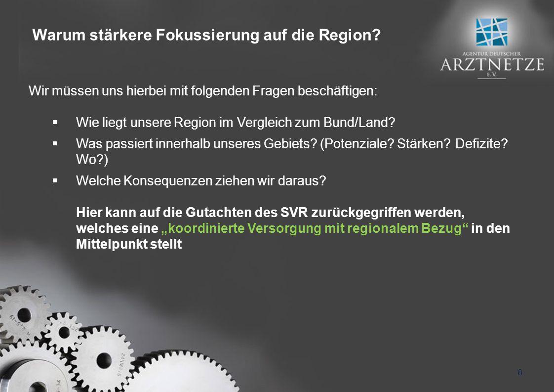 Wir müssen uns hierbei mit folgenden Fragen beschäftigen: Wie liegt unsere Region im Vergleich zum Bund/Land.