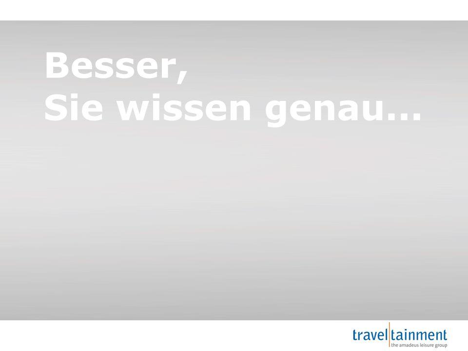 © 2013 TravelTainment Besser, Sie wissen genau...