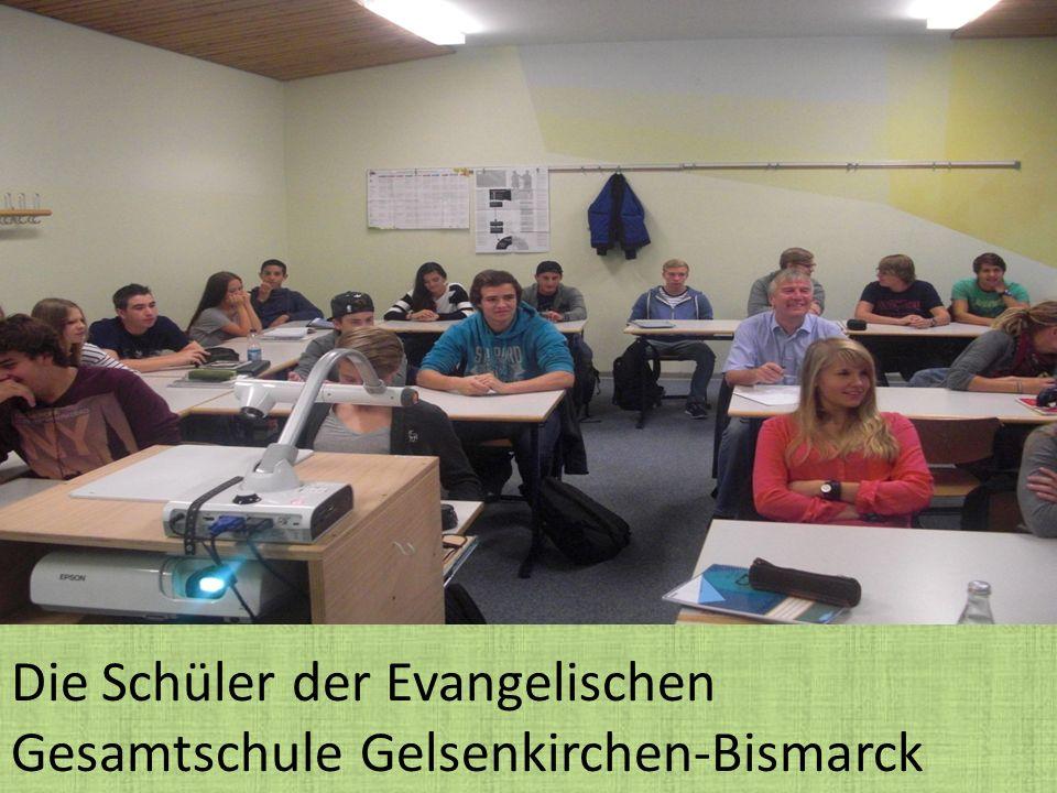 Die Schüler der Evangelischen Gesamtschule Gelsenkirchen-Bismarck