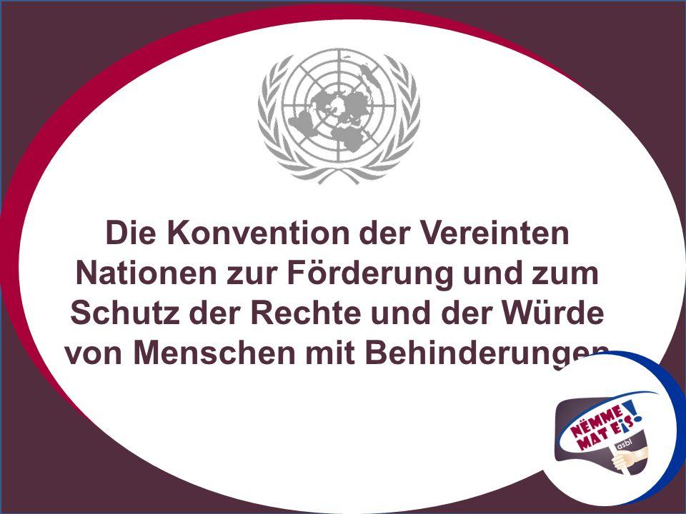 Die Konvention der Vereinten Nationen zur Förderung und zum Schutz der Rechte und der Würde von Menschen mit Behinderungen