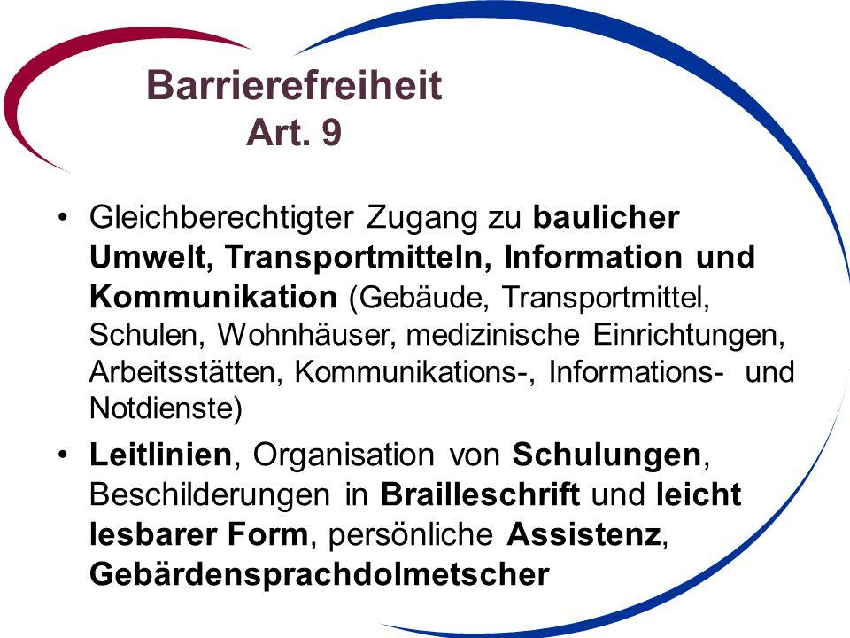 Barrierefreiheit Art.