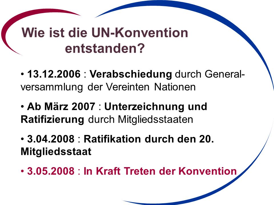 Wie ist die UN-Konvention entstanden.