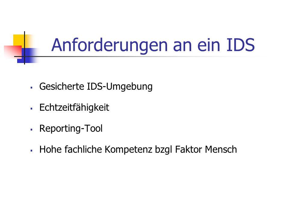 Strict Anomaly Detection Ähnlich der Anomalieeerkennung, jedoch anderes Mustererkennungsverfahren => wie bei Misuse Detection Nur bekannte Systemaktivitäten werden in der Datenbank abgespeichert => weniger Verwaltungsaufwand als bei A.D.
