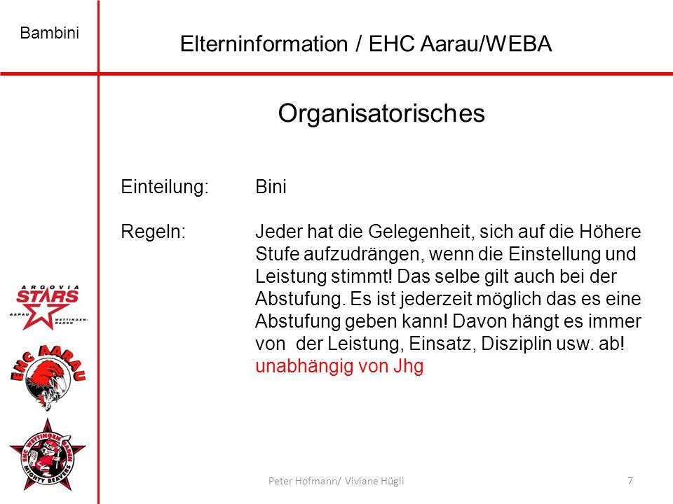Bambini 7Peter Hofmann/ Viviane Hügli Organisatorisches Einteilung:Bini Regeln:Jeder hat die Gelegenheit, sich auf die Höhere Stufe aufzudrängen, wenn die Einstellung und Leistung stimmt.