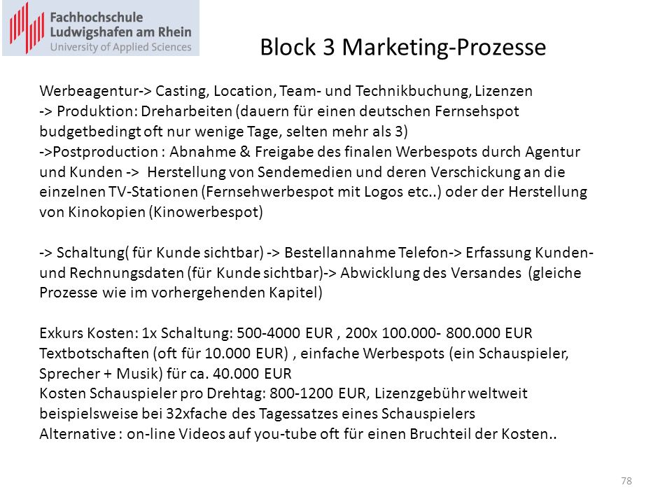 Block 3 Marketing-Prozesse B2.