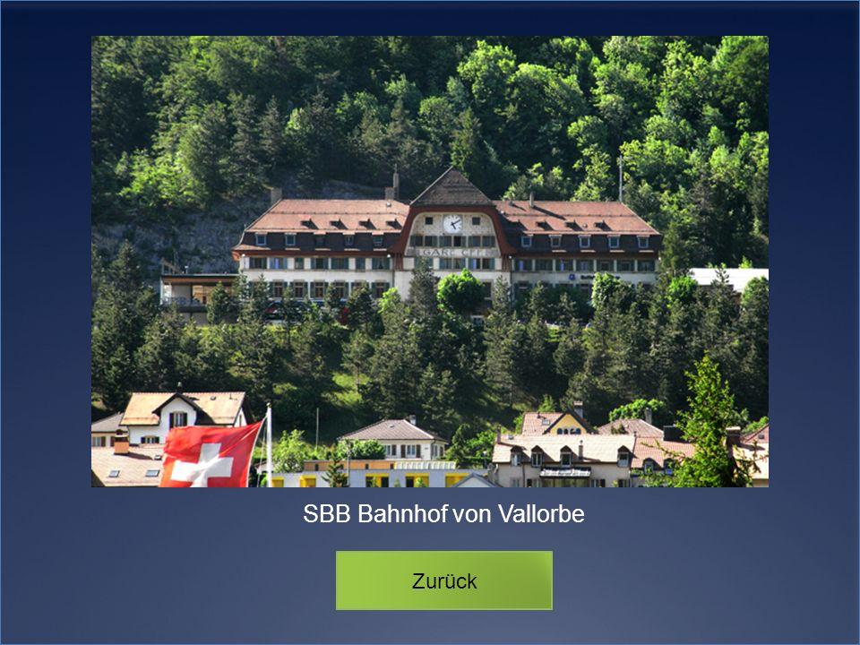 SBB Bahnhof von Vallorbe Zurück