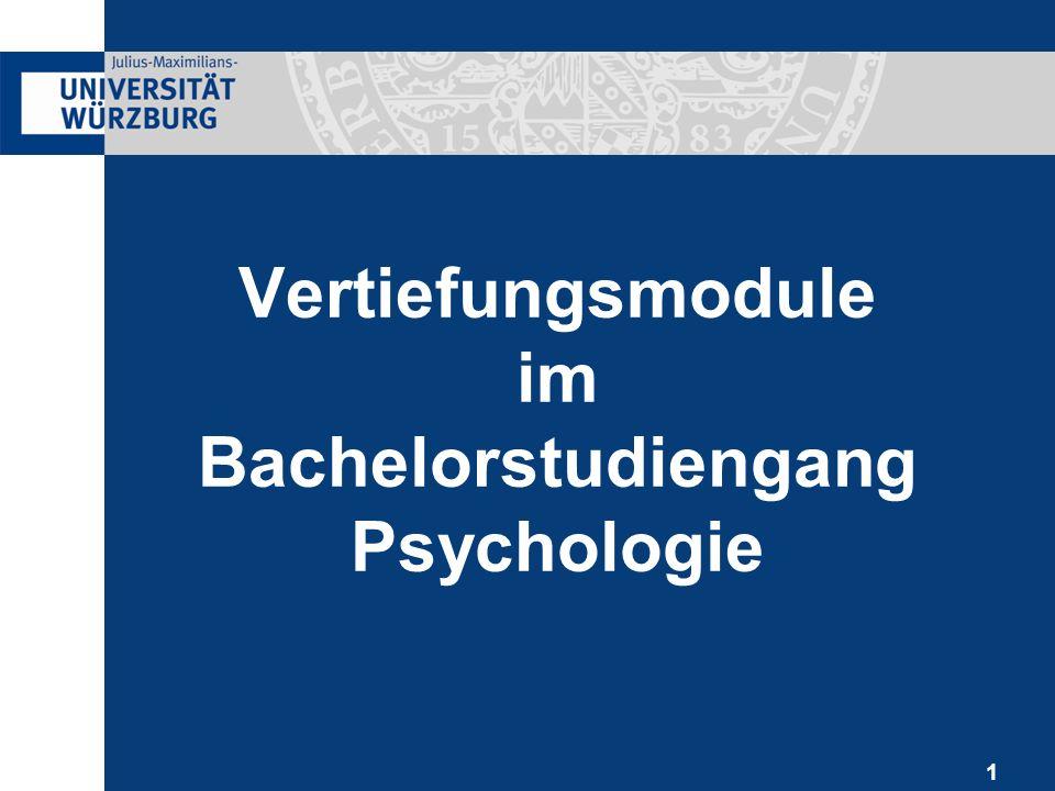 1 Vertiefungsmodule im Bachelorstudiengang Psychologie