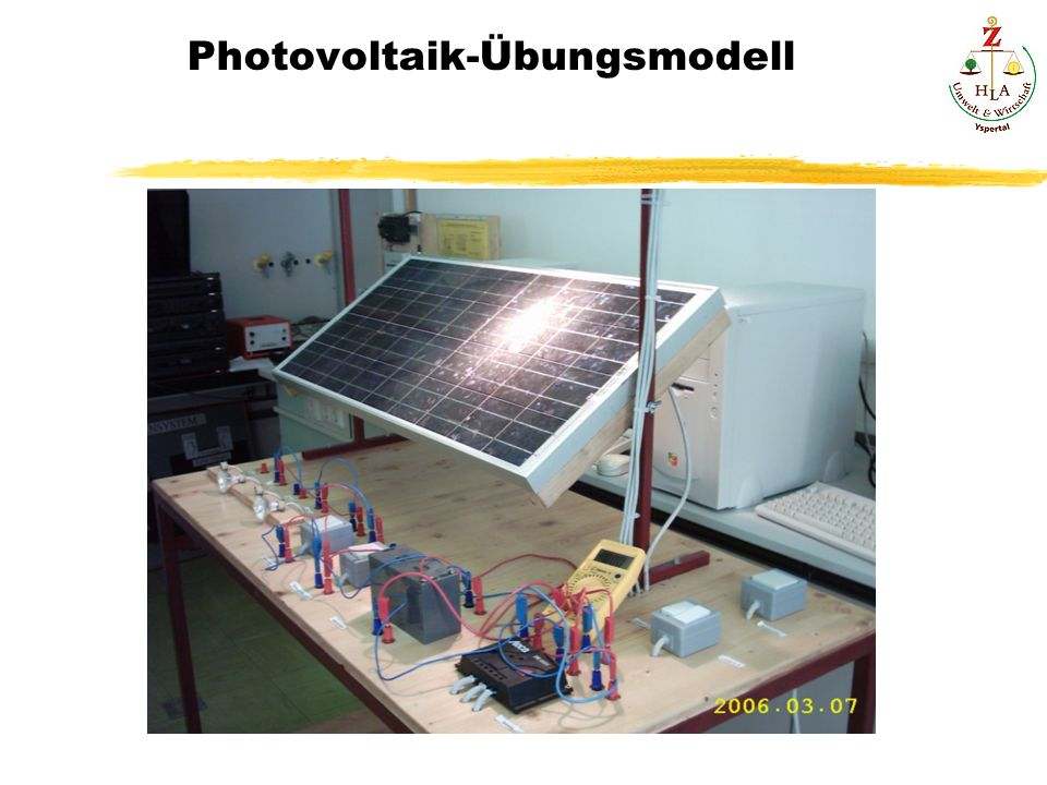 Photovoltaik-Übungsmodell