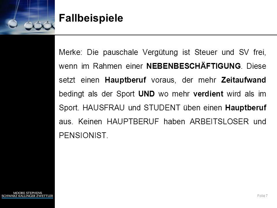 Folie 28 Fallbeispiele 10) Handballer und Funktionär K.