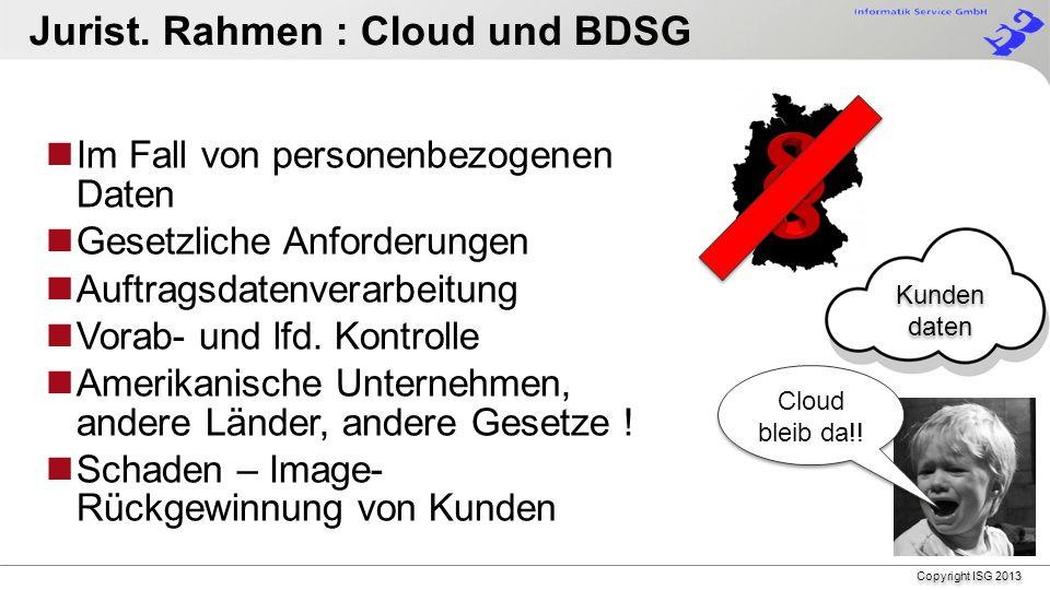 Copyright ISG 2013 Einfachheit Ihr Geschäft, Ihre Applikation Freiheit Keine Software Lizenzen Leistungs- fähigkeit durch kompetente, lokale Partner Flexibilität Wahlmöglichkeit, Pay-as-you-use Sicherheit Informations- & Datensicherheit Datensicherheit in Deutschland Warum teilnehmen am Fujitsu Cloud Store