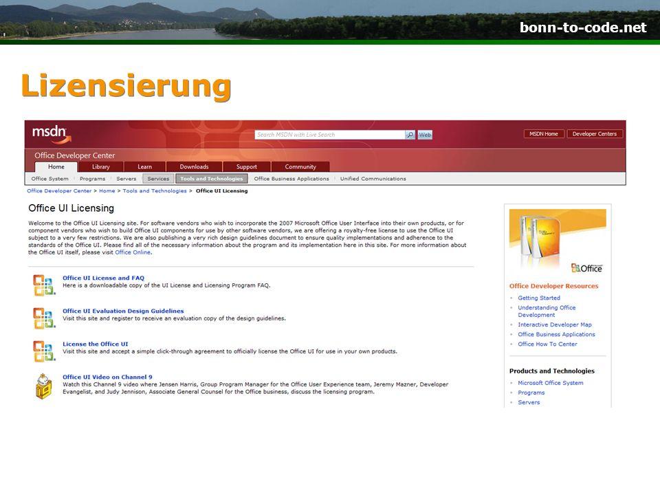 bonn-to-code.net Lizensierung