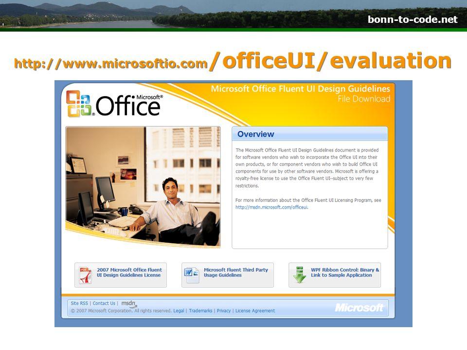 bonn-to-code.net http://www.microsoftio.com /officeUI/evaluation