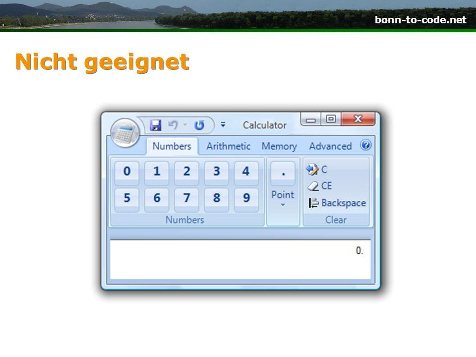 bonn-to-code.net Nicht geeignet