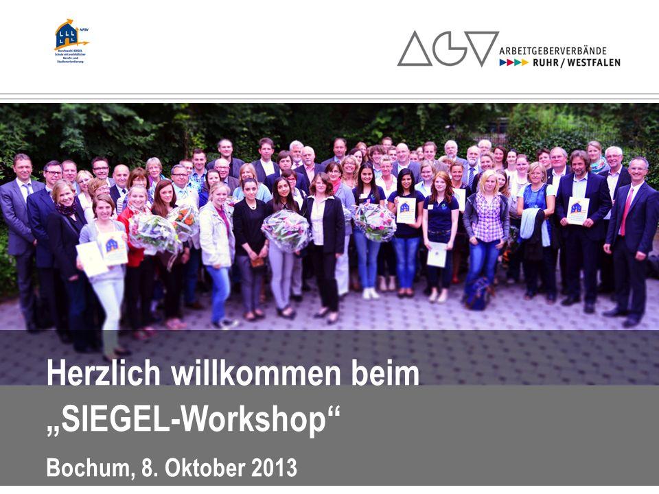 Herzlich willkommen beim SIEGEL-Workshop Bochum, 8. Oktober 2013