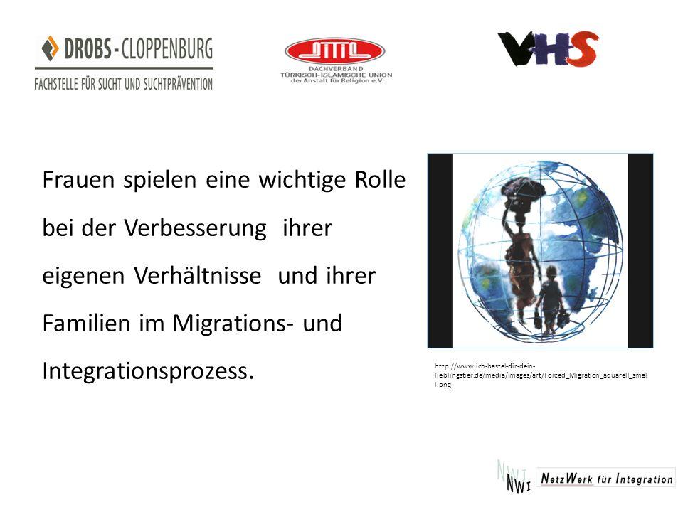 Frauen spielen eine wichtige Rolle bei der Verbesserung ihrer eigenen Verhältnisse und ihrer Familien im Migrations- und Integrationsprozess.